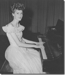 Mom on piano