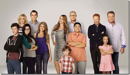 Modern Family - Series 06 Gallery Sarah Hyland as Haley, Ariel Winter as Alex, Eric Stonestreet as Cameron, Aubrey Anderson-Emmons as Lily, Jesse Tyler Ferguson as Mitchell, Julie Bowen as Claire, Ty Burrell as Phil, SofÌa Vergara as Gloria, Rico Rodriguez as Manny, Nolan Gould as Luke and Ed O'Neill as Jay. TM and © 2013 Fox and its related entities. All rights reserved. Patent Pending.