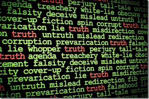 the word truth among words of deception