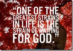 Impatience and Idolatry