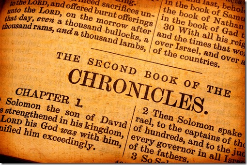 The Surprising Reason Chronicles is in the Bible