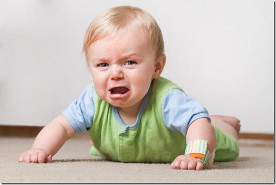 Temperamental toddler throwing tantrum