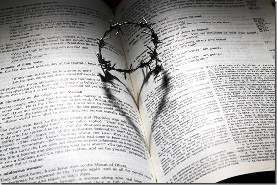 crown-of-thorns-on-opened-bible